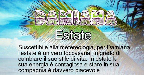 Damiana - Stagione associata al nome Damiana
