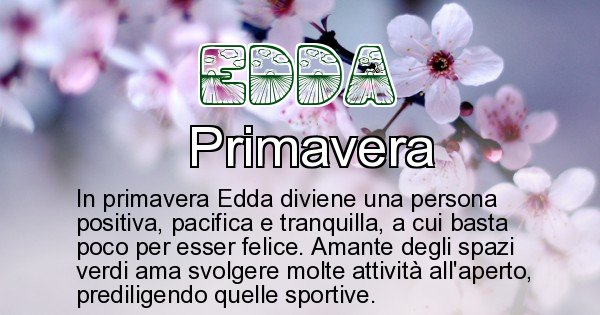 Edda - Stagione associata al nome Edda