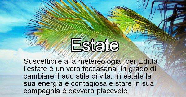 Editta - Stagione associata al nome Editta