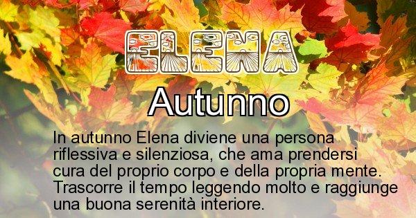 Elena - Stagione associata al nome Elena