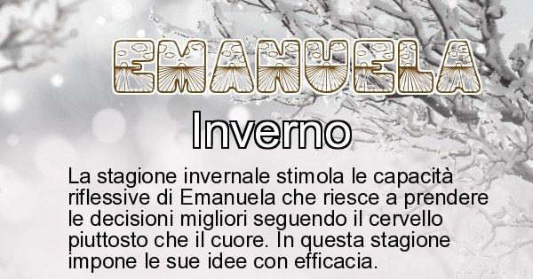 Emanuela - Stagione associata al nome Emanuela