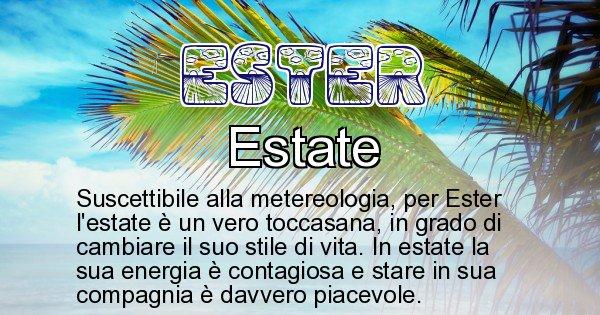 Ester - Stagione associata al nome Ester