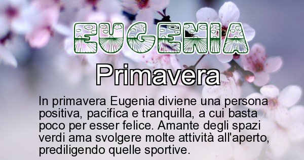 Eugenia - Stagione associata al nome Eugenia