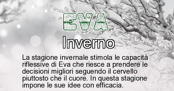 Eva - Stagione associata al nome Eva