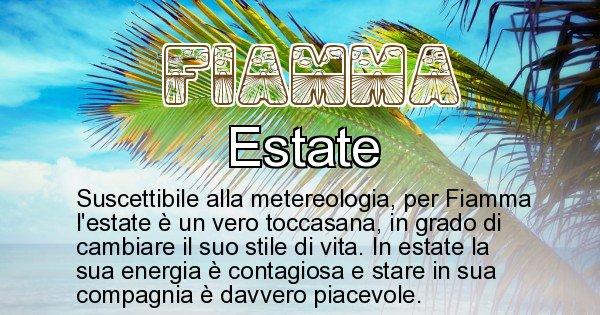 Fiamma - Stagione associata al nome Fiamma