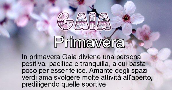 Gaia - Stagione associata al nome Gaia
