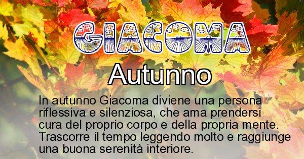 Giacoma - Stagione associata al nome Giacoma