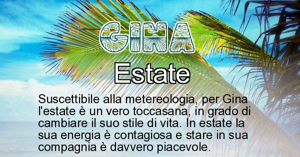 Gina - Stagione associata al nome Gina