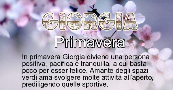 Giorgia - Stagione associata al nome Giorgia