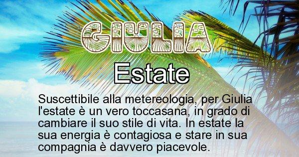 Giulia - Stagione associata al nome Giulia