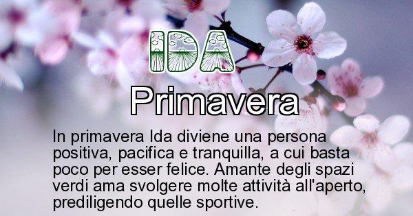 Ida - Stagione associata al nome Ida