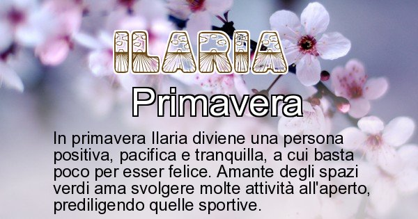 Ilaria - Stagione associata al nome Ilaria