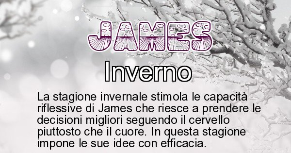 James - Stagione associata al nome James