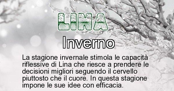 Lina - Stagione associata al nome Lina