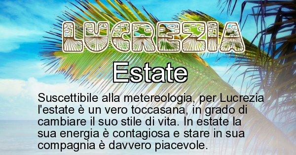 Lucrezia - Stagione associata al nome Lucrezia