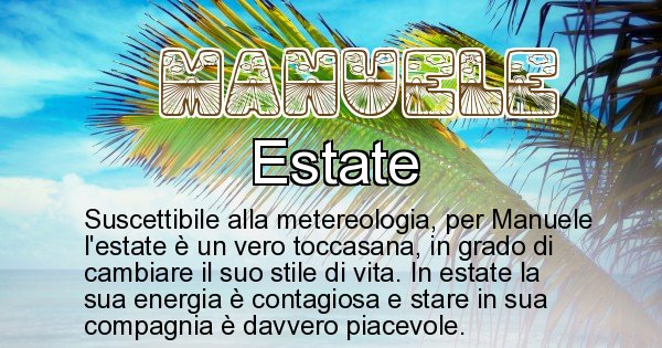 Manuele - Stagione associata al nome Manuele