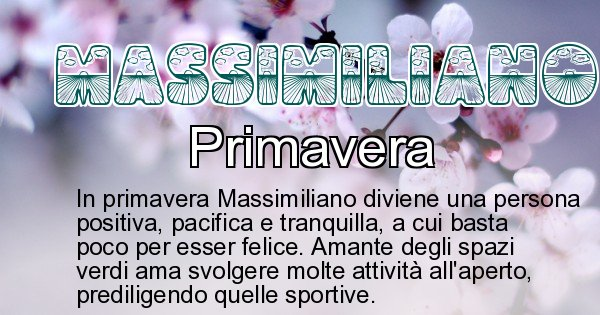 Massimiliano - Stagione associata al nome Massimiliano
