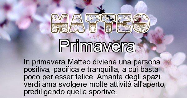 Matteo - Stagione associata al nome Matteo