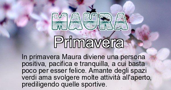 Maura - Stagione associata al nome Maura
