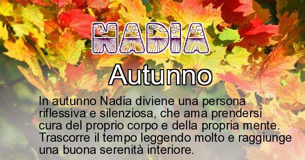 Nadia - Stagione associata al nome Nadia