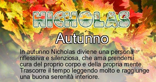 Nicholas - Stagione associata al nome Nicholas