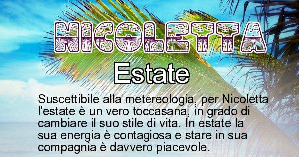 Nicoletta - Stagione associata al nome Nicoletta