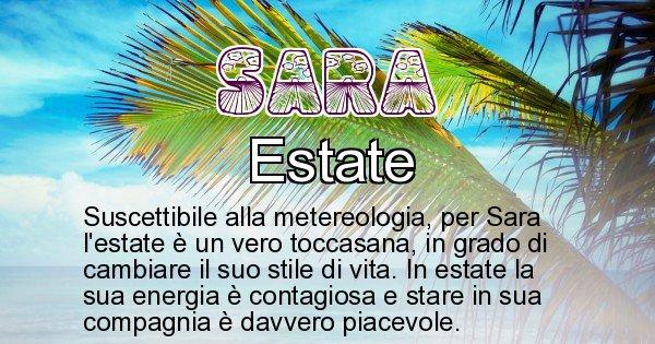 Sara - Stagione associata al nome Sara