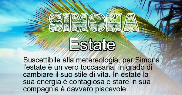 Simona - Stagione associata al nome Simona