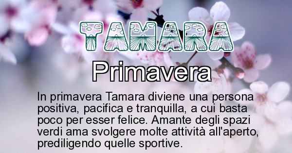 Tamara - Stagione associata al nome Tamara