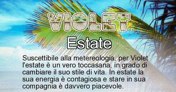 Violet - Stagione associata al nome Violet