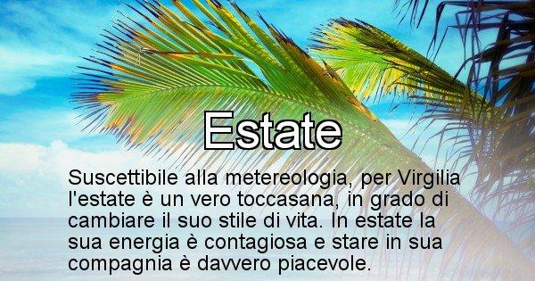 Virgilia - Stagione associata al nome Virgilia