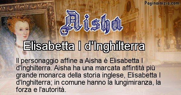 Aisha - Personaggio storico associato Aisha