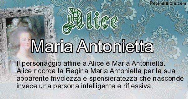 Alice - Personaggio storico associato Alice