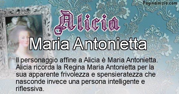 Alicia - Personaggio storico associato Alicia
