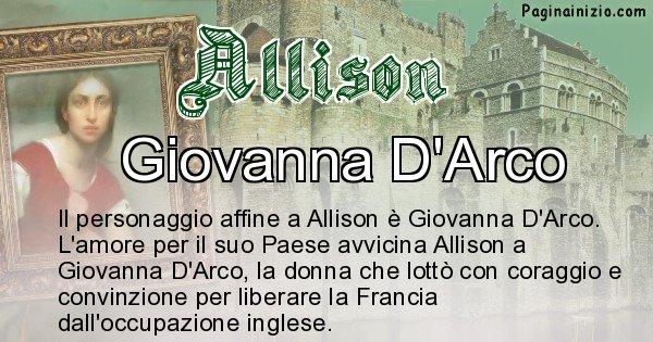 Allison - Personaggio storico associato Allison