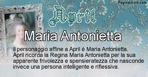 April - Personaggio storico associato April