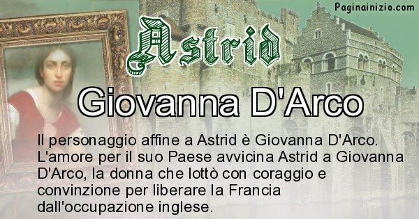 Astrid - Personaggio storico associato Astrid