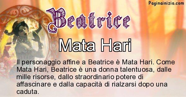 Beatrice - Personaggio storico associato Beatrice