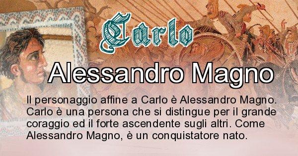 Carlo - Personaggio storico associato Carlo