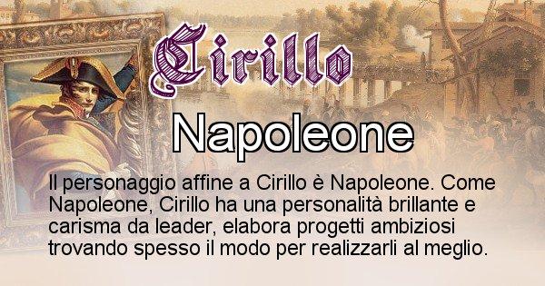 Cirillo - Personaggio storico associato Cirillo