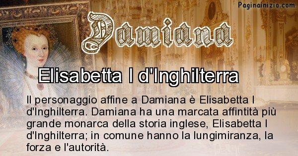 Damiana - Personaggio storico associato Damiana