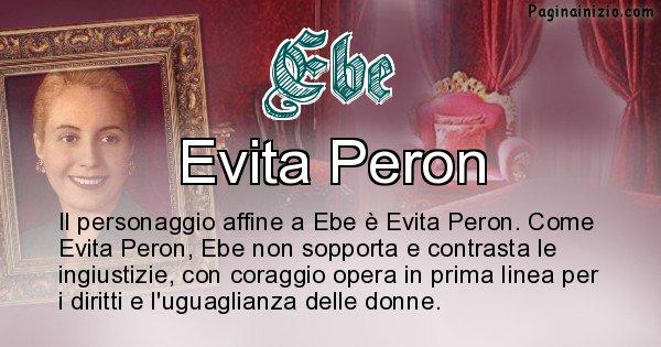 Ebe - Personaggio storico associato Ebe