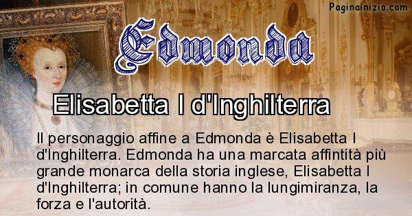 Edmonda - Personaggio storico associato Edmonda