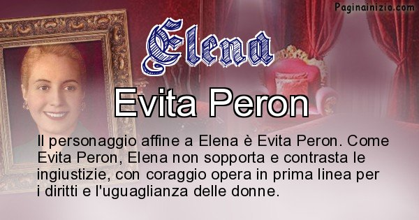 Elena - Personaggio storico associato Elena