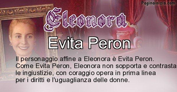 Eleonora - Personaggio storico associato Eleonora