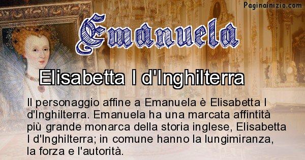 Emanuela - Personaggio storico associato Emanuela