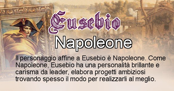 Eusebio - Personaggio storico associato Eusebio
