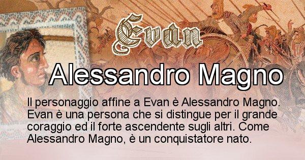 Evan - Personaggio storico associato Evan