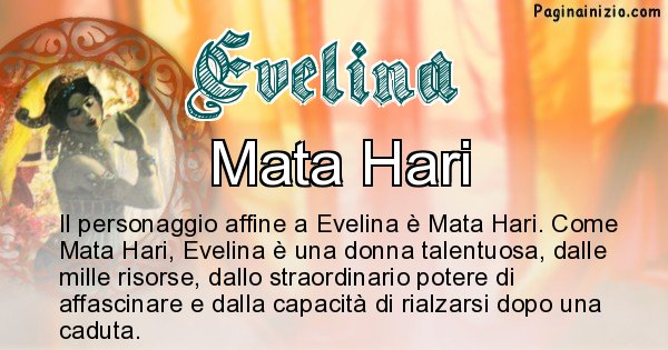 Evelina - Personaggio storico associato Evelina