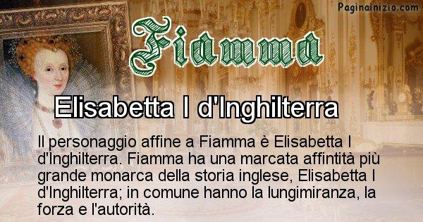 Fiamma - Personaggio storico associato Fiamma